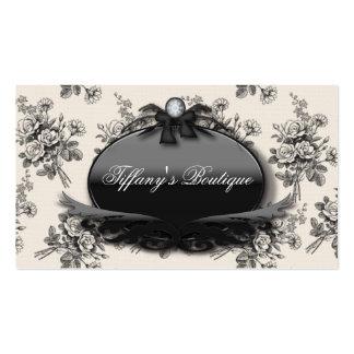 Elegant Rose Damask Fashion Boutique Busines Cards Pack Of Standard Business Cards