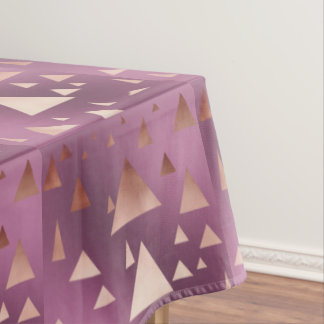 elegant rose gold geometric triangles pattern tablecloth