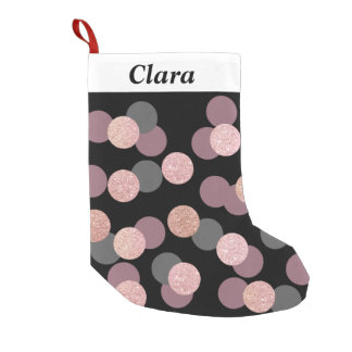 elegant rose gold glitter pastel pink confetti small christmas stocking