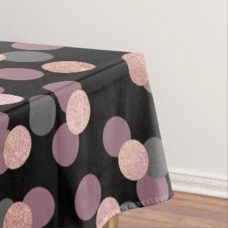 elegant rose gold glitter pastel pink confetti tablecloth