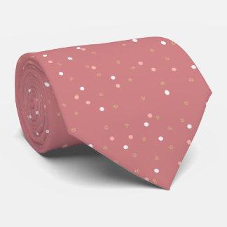 elegant rose gold glitter pink polka dots pattern tie