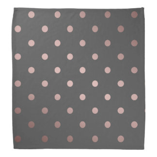 elegant rose gold grey polka dots head kerchiefs