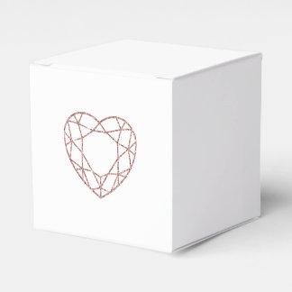 Elegant rose gold heart wedding favor box