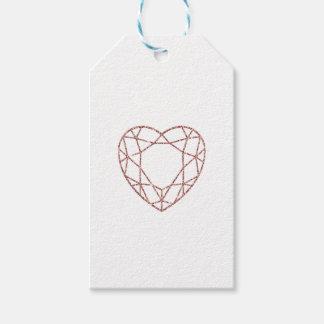 Elegant rose gold heart wedding favor tag