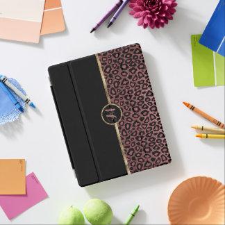 Elegant Rose Gold Leopard Skin iPad Cover