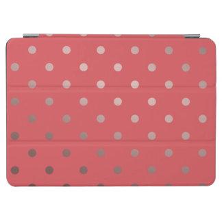 elegant rose gold red polka dots iPad air cover
