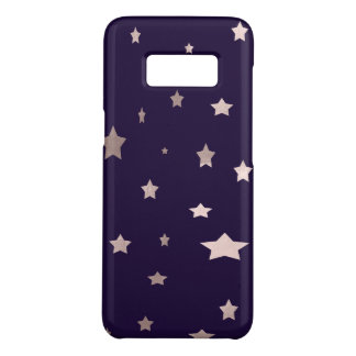 elegant rose gold stars on a purple background Case-Mate samsung galaxy s8 case