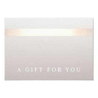 Elegant Rose Gold Striped Modern Gift Certificate 9 Cm X 13 Cm Invitation Card