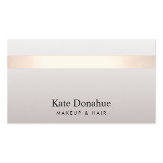 Elegant Rose Gold Striped Modern Stylish Gray Pack Of Standard Business Cards