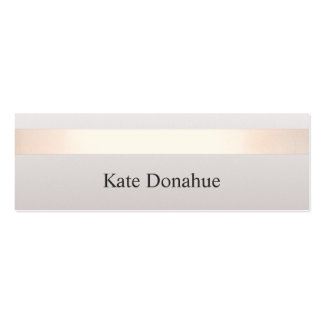 Elegant Rose Gold Striped Modern Stylish Gray Pack Of Skinny Business Cards