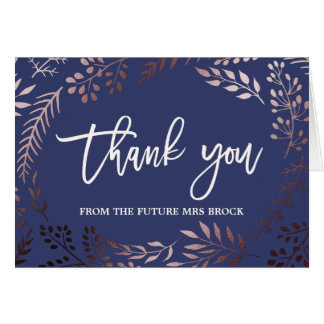 Elegant Rose Gold Thank You From the Future Mrs Card