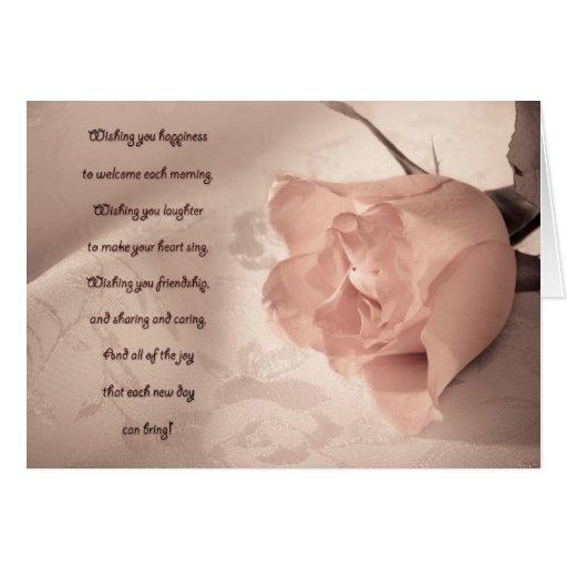 Elegant rose note card