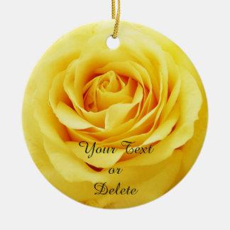 Elegant rose round ceramic decoration