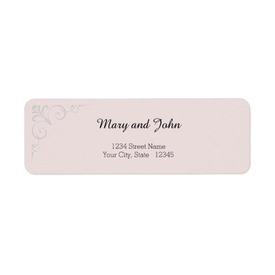 Elegant Rose Wedding Label Return Address