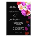 Elegant Roses and Multi coloured flowers wedding Personalised Invitation