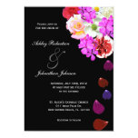 Elegant Roses and Multi coloured flowers wedding Personalised Invitation