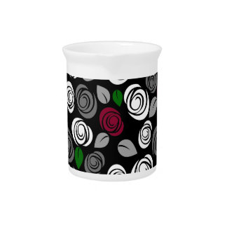 Elegant roses pattern pitcher