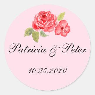 Elegant Roses Round Seal Round Sticker