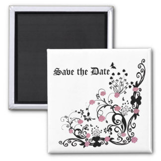 elegant roses Save the Date Refrigerator Magnets