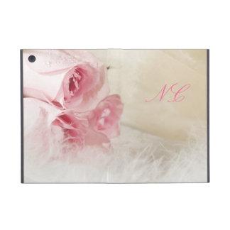 Elegant roses with initials iPad mini covers