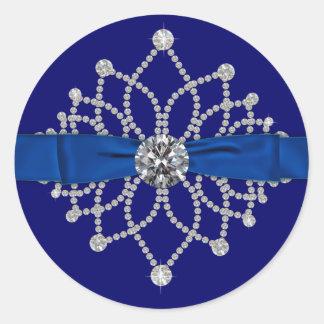 Elegant Royal Blue Diamonds Sticker