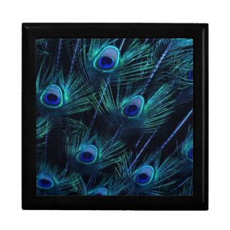 Elegant Royal Blue Peacock Keepsake Giftbox Gift Box