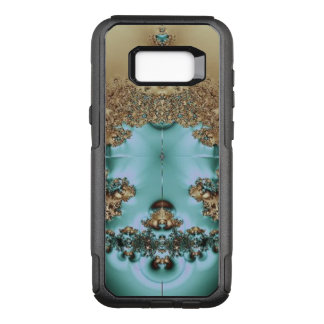 Elegant Royal Gold and Aqua OtterBox Commuter Samsung Galaxy S8+ Case