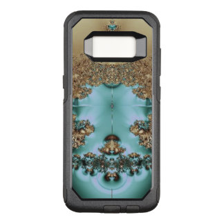 Elegant Royal Gold and Aqua OtterBox Commuter Samsung Galaxy S8 Case