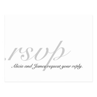 Elegant RSVP Cards for Weddings White Grey