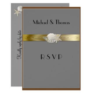 Elegant RSVP Cards Starfish Sanddollar