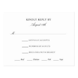 Elegant Rsvp Response Card Wedding Event