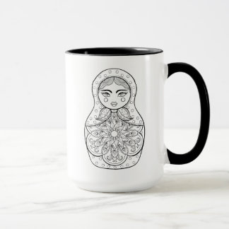 Elegant Russian Doll Mug
