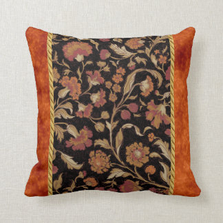 Elegant Rust Colored Floral Pattern Cushion