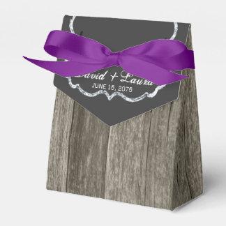 Elegant Rustic Wood Chalkboard Wedding Favor Box