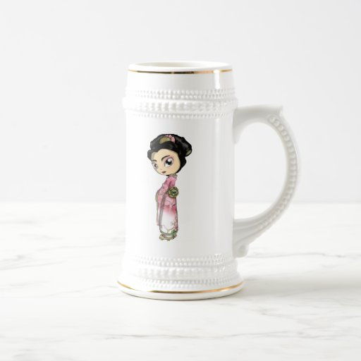 Elegant Sakura Geisha Coffee Mug