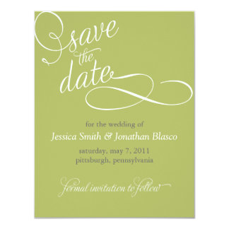 Elegant Save the Date Announcement