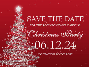 Christmas Party Save The Date Cards Zazzle Au
