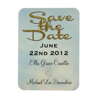 Elegant Save The Date II Rectangular Photo Magnet