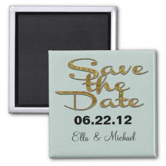 Elegant Save the date  Magnet