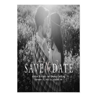 Elegant save the date magnetic invitations