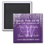 Elegant Save The Date Night Dazzle Purple