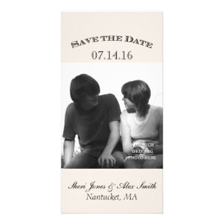 Elegant Save the Date Photo Cards Vertical