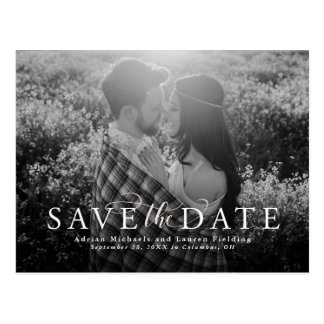 Elegant save the date postcard