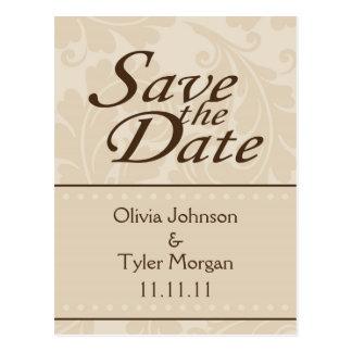 Elegant Save the Date Postcard