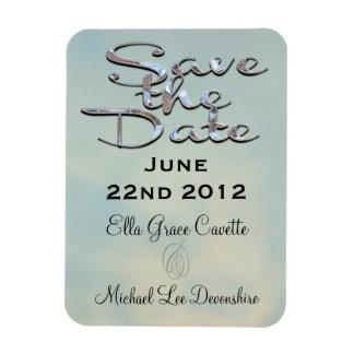 Elegant Save The Date Rectangular Photo Magnet