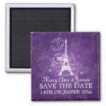 Elegant Save The Date Romantic Paris Purple