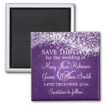 Elegant Save The Date Sparkling Wave Purple