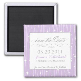 Elegant Save the Date Square Magnet