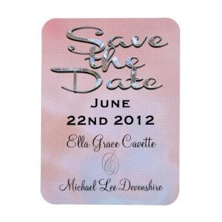 Elegant Save The Date Summer Rectangular Photo Magnet