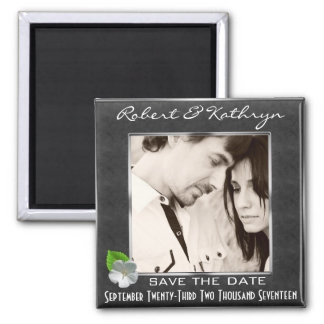 Elegant Save The Date w/Photo Magnet